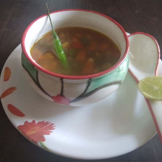 mix veg soup