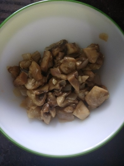 cooked mushroom soup