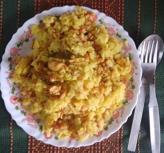 vegetable poha recipe