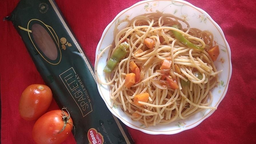 Spaghetti Pasta|Vegetarian Spaghetti Recipe